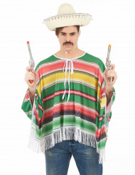 Costume poncho e sombrero messicano uomo