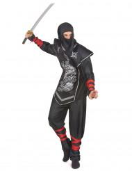 Costume da ninja con dragone per uomo