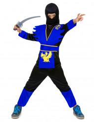Costume da ninja blu bambino