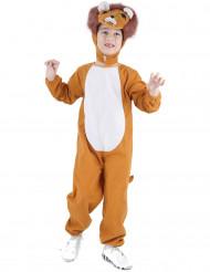 Costume leone criniera arancio per bambino