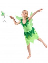 Costume fata verde bambina