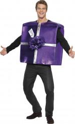 Costume regalo di Natale viola adulto