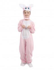 Costume coniglio rosa da bambino