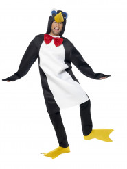 Costume da pinguino con papillon per adulto