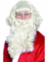 Barba e parrucca da Babbo Natale lusso adulto