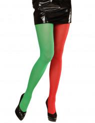 Collant bicolori da elfo adulto