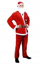 Costume Babbo Natale con barba per uomo
