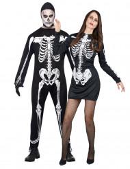 Costume coppia di scheletri Halloween
