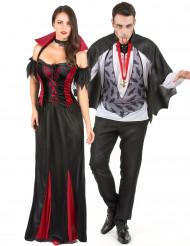 Costume coppia di vampiri Halloween