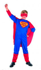 Costume da Super Hero con mantello per bambino
