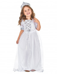Costume principessa bambina argentato