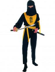 Costume ninja nero e giallo per bambino