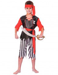 Costume pirata con bandana e cintura bambino
