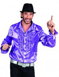 Camicia disco viola uomo