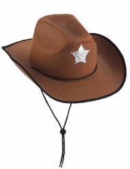 Cappello da sceriffo marrone