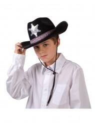 Cappello da sceriffo nero da bambino