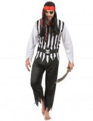 Costume pirata bianco e nero per uomo