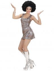 Costume da disco in argento per donna