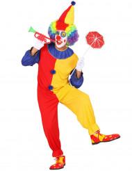 Costume clown rosso e giallo uomo