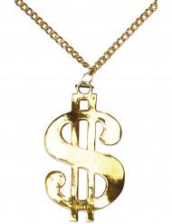 Collana con stemma del dollaro