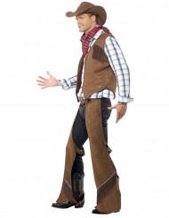 Costume cowboy copri pantalone in finta pelle