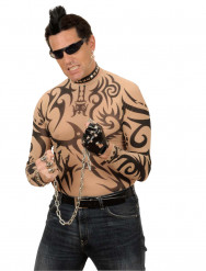 Image of Cresta nera da punk adulto