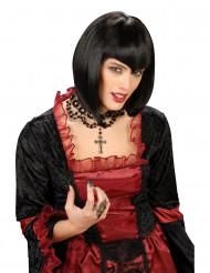Parrucca nera a caschetto donna