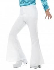 Pantaloni da disco bianchi da uomo