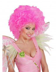 Parrucca rosa fluo donna