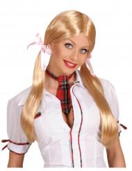 Parrucca da scolaretta bionda donna