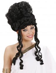 Parrucca nera da dea donna