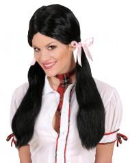 Parrucca nera da studente donna