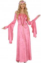 Costume da dama del Medio Evo adulto
