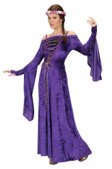 Costume da dama medievale per adulto