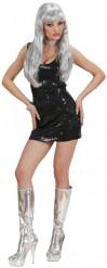 Costume nero sexy da disco per donna