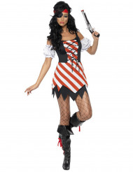 Costume da pirata con laccetti per donna