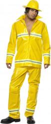 Costume pompiere giallo uomo