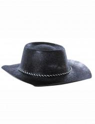 Cappello nero cowgirl paillettato