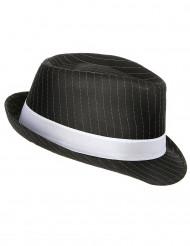 Cappello gangster nero a righe adulto