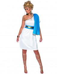 Costume romana donna con drappo blu