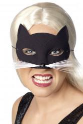 Mascherina gatto nera adulto