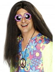 Parrucca hippie adulto