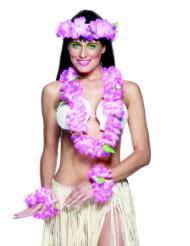 Kit hawaiano rosa donna