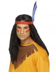 Parrucca da indiano capelli neri