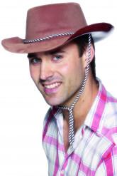 Cappello cowboy marrone uomo