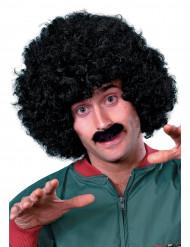 Parrucca e baffi neri uomo