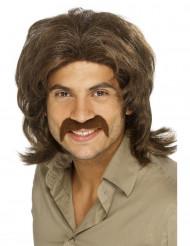 Parrucca disco bruna uomo
