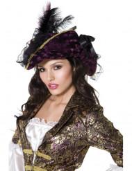 Cappello viola pirata donna