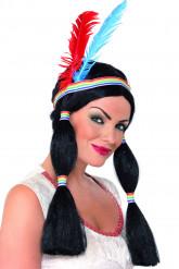 Parrucca principessa indiana donna