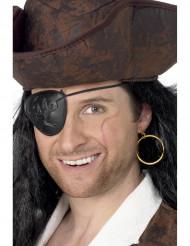 Orecchino e benda da pirata